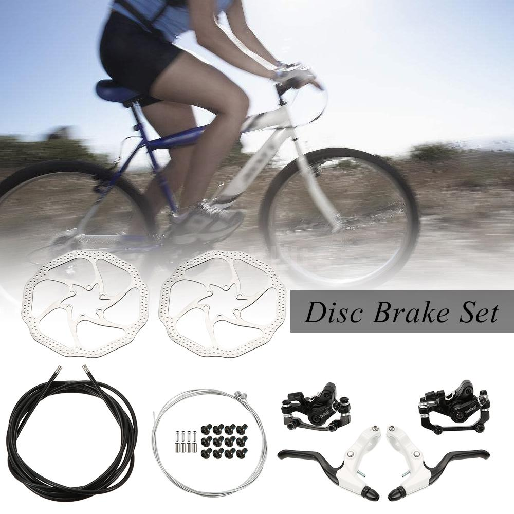 Bike Disc Brake Kit L//R Hand Brake Lever Shifter Derailleur Cable Inner Wire Set